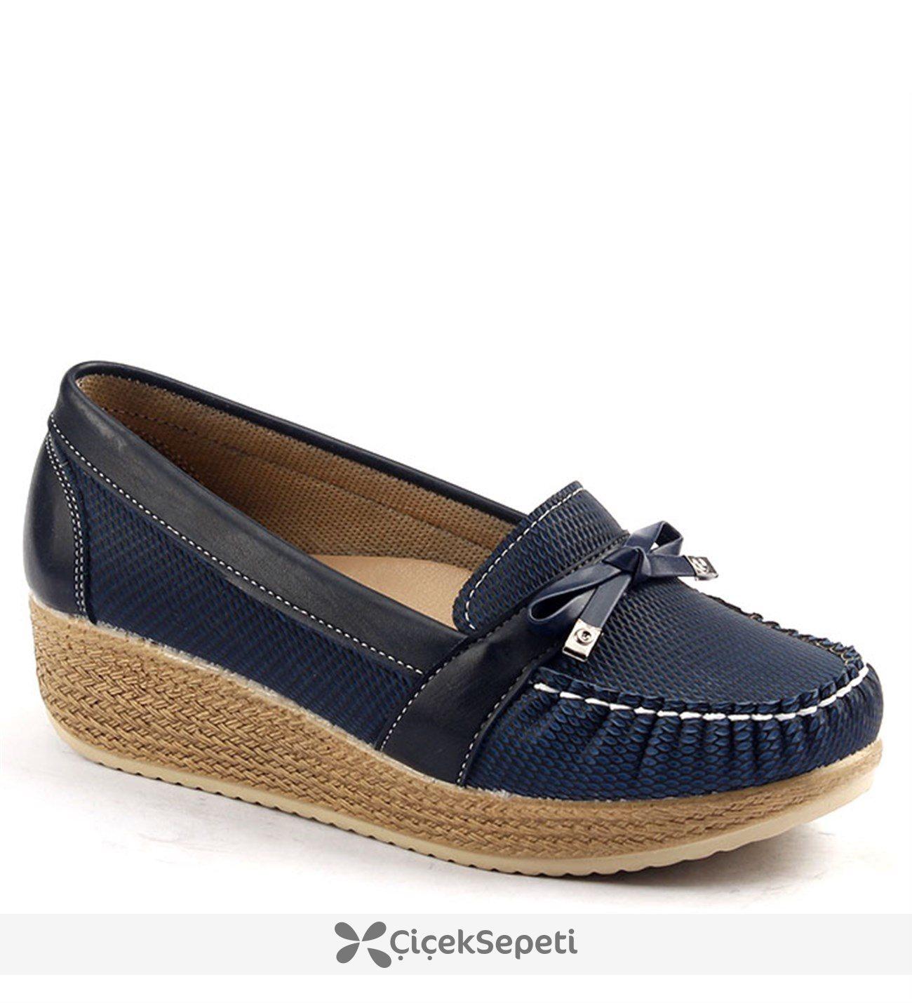 Alens 504 Kalın Taban Günlük Bayan Babet Ayakkabı