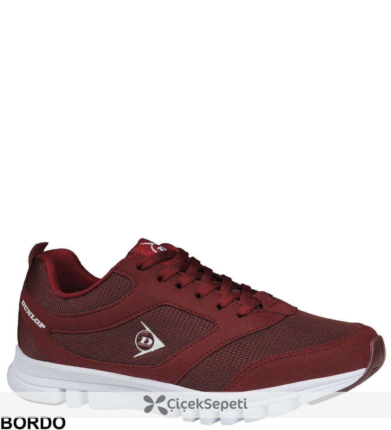 Dunlop 812262 Erkek & Kadın Spor Ayakkabı Yeni Sezon 6 Renk Bordo