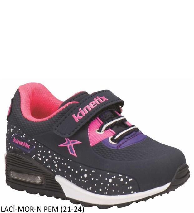 Kinetix 7P Largo Çocuk Spor Ayakkabı 11 Renk Laci-Mor-N Pem