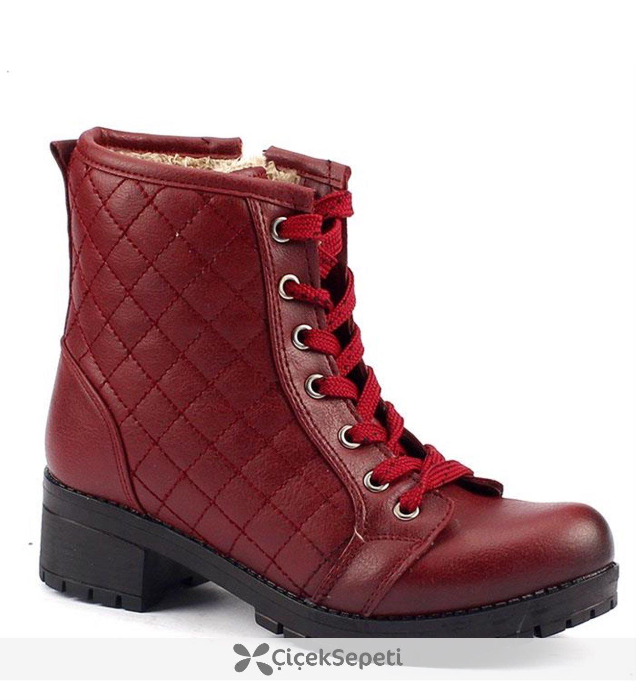 Scookrs 111 İçi Kürklü 45 Cm Topuklu Bayan Cilt Bot Ayakkabı
