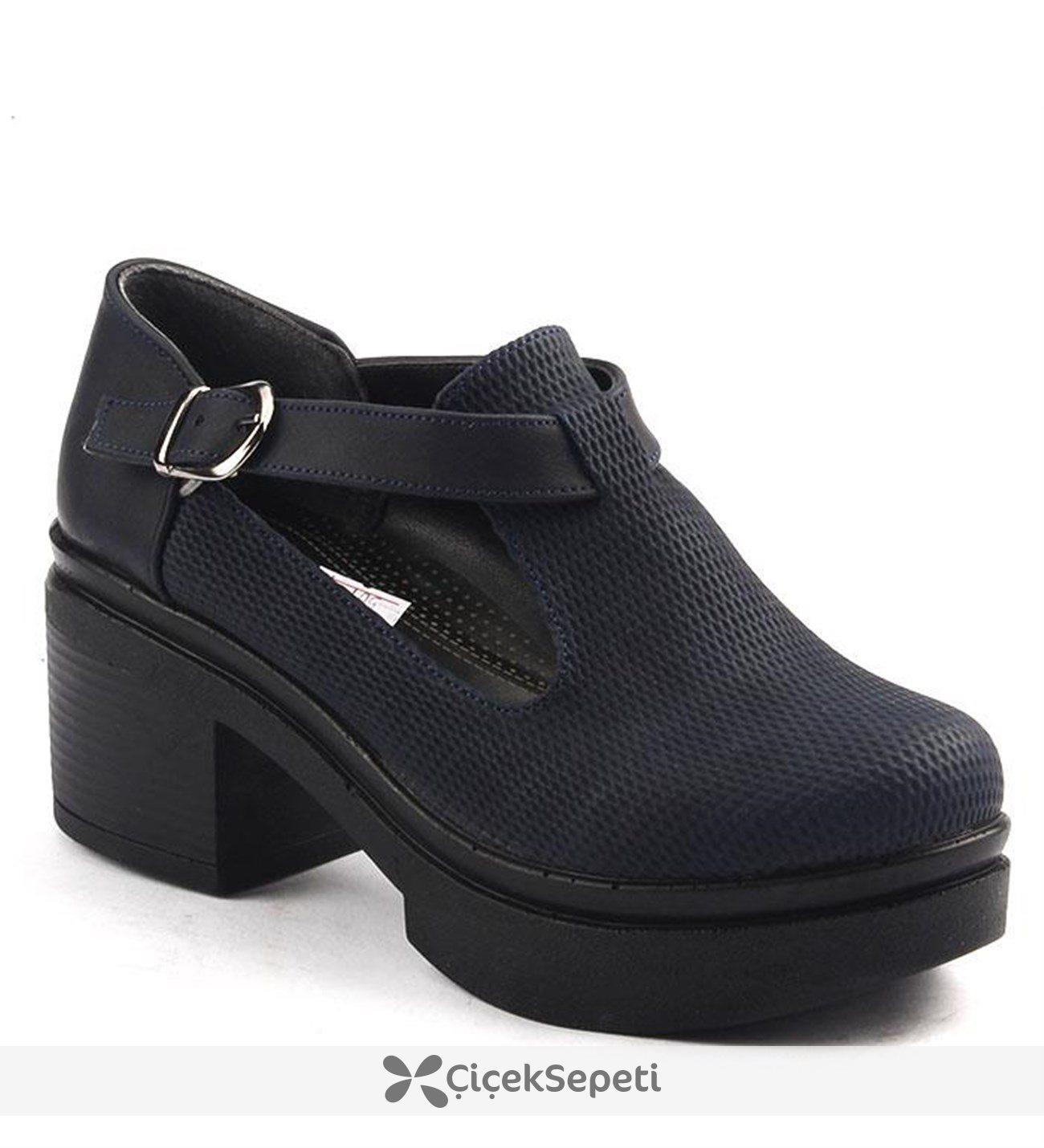 Ayakland 501.1 Günlük 6Cm Kalın Topuk Bayan Ayakkabı