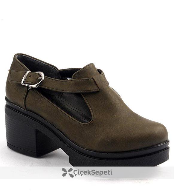 Ayakland 501.2 Haki Kadın Günlük Ayakkabı