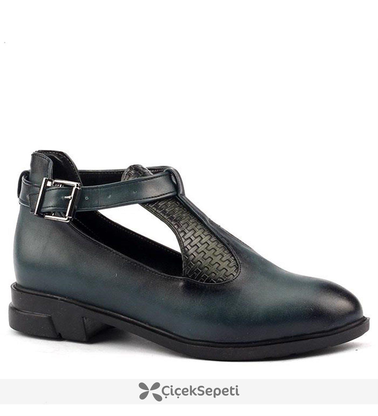 Ayakland 132 Günlük Bilekten Kemerli Bayan Cilt Ayakkabı