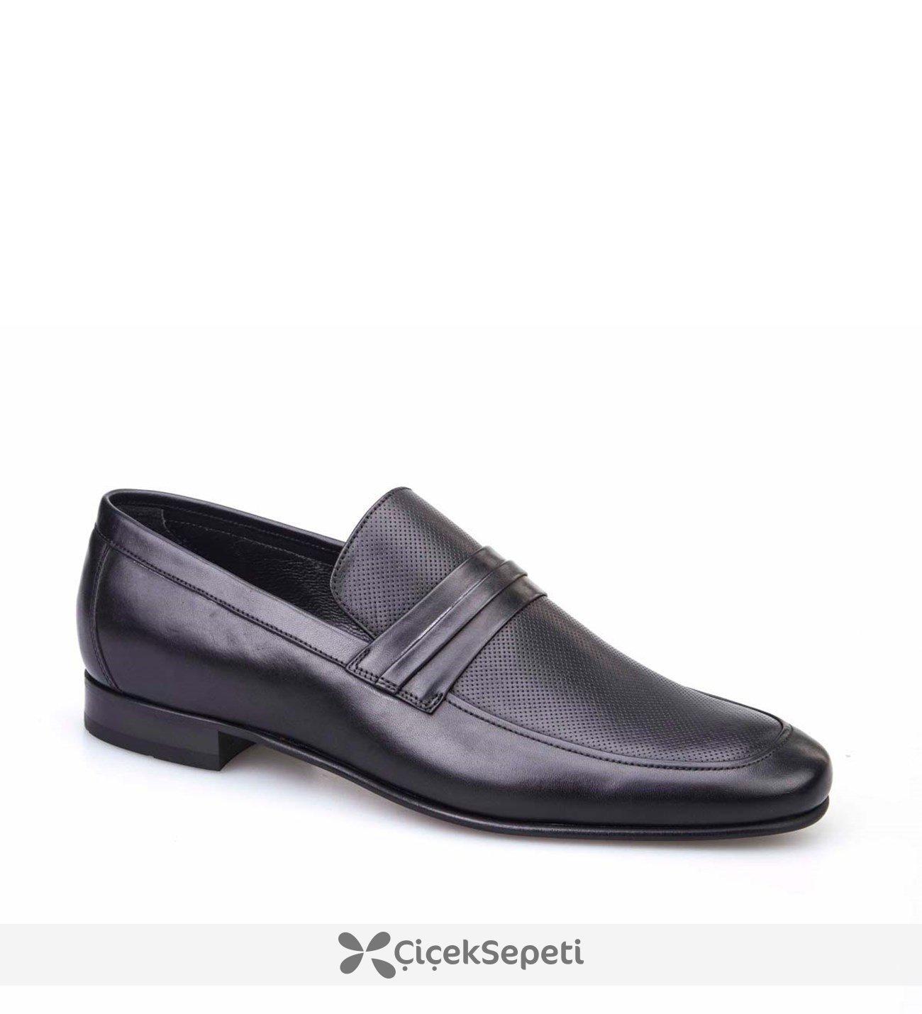 Baskılı Siyah Ayakkabı