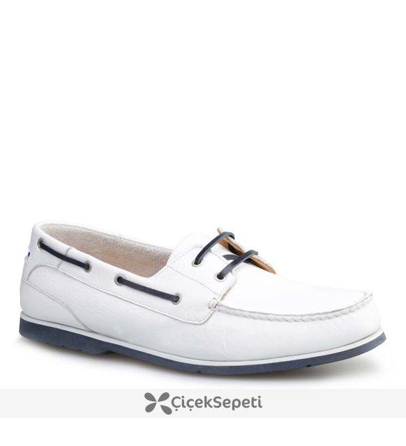 Cabani Marin Tekne Günlük Erkek Ayakkabı Siyah Nata Deri