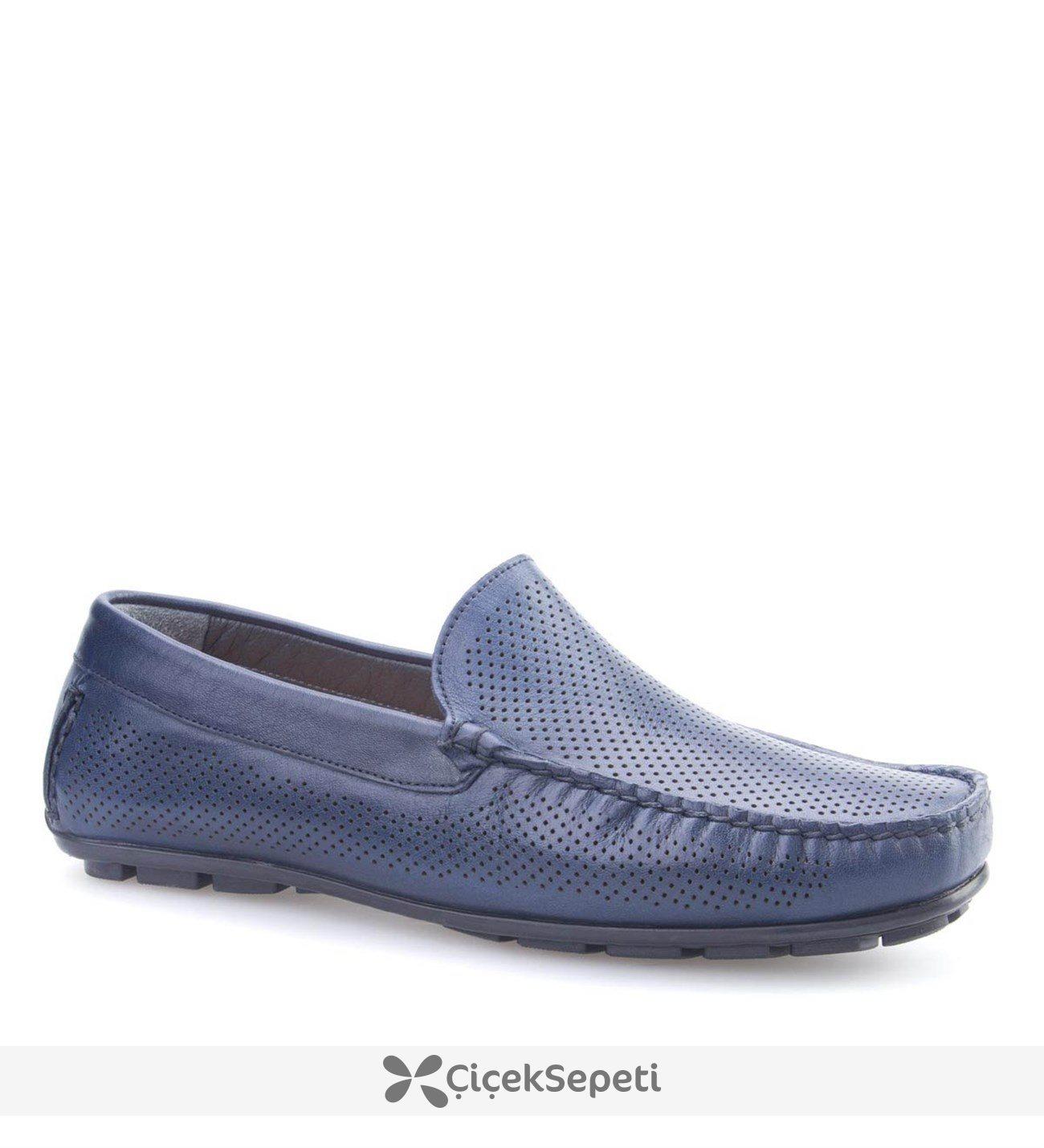 Cabani Lazerli Makosen Günlük Erkek Ayakkabı Kahve Napa