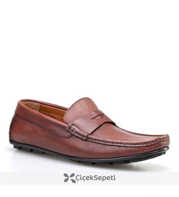 Cabani Kemerli Makosen Günlük Erkek Ayakkabı Kahve Sanetta Deri