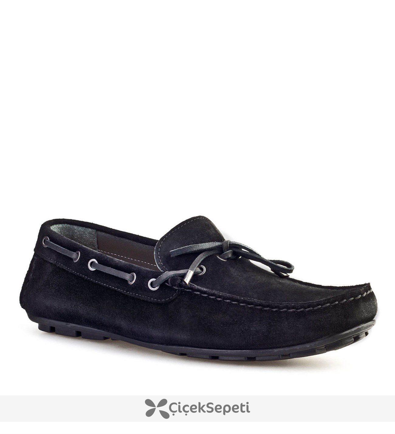 Cabani Fiyonklu Günlük Erkek Ayakkabı Siyah Süet
