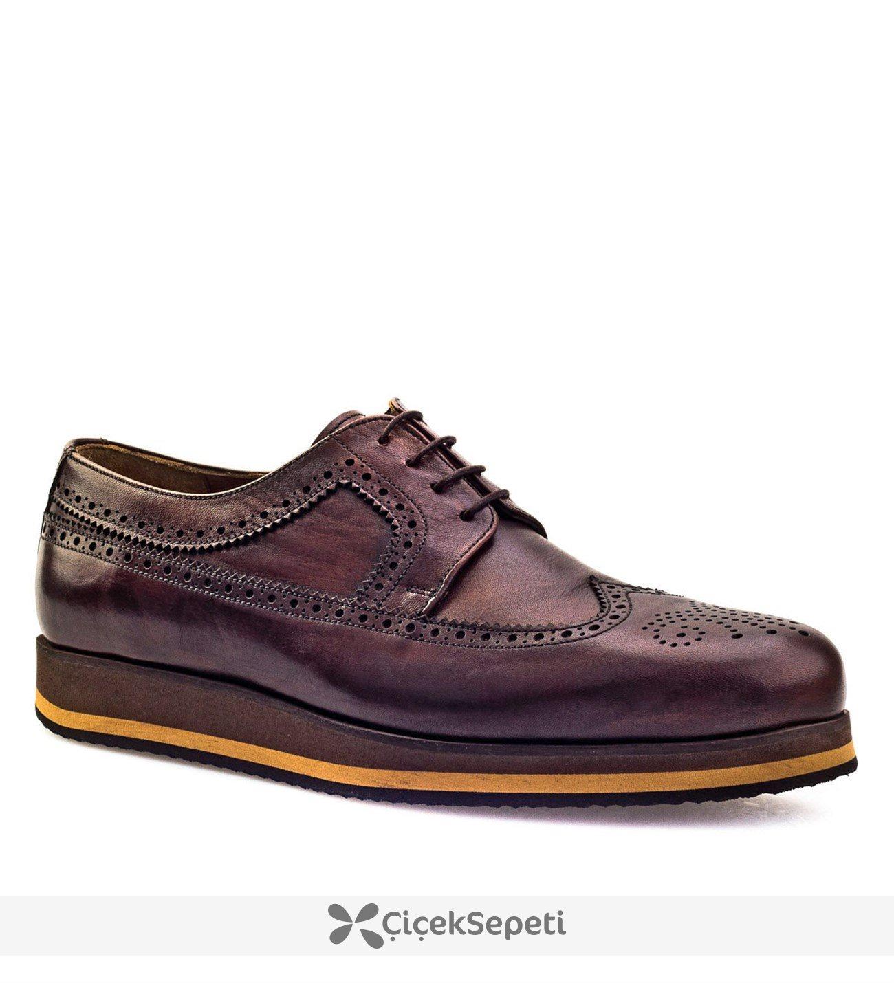 Cabani Bağcıklı  Erkek Ayakkabı Kahve