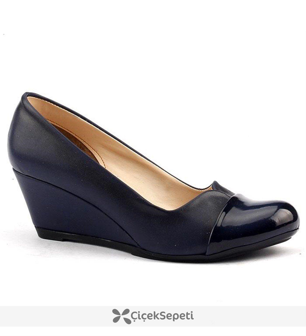 Ayakland 084 Günlük 55 Cm Dolgu Topuk Bayan Babet Ayakkabı