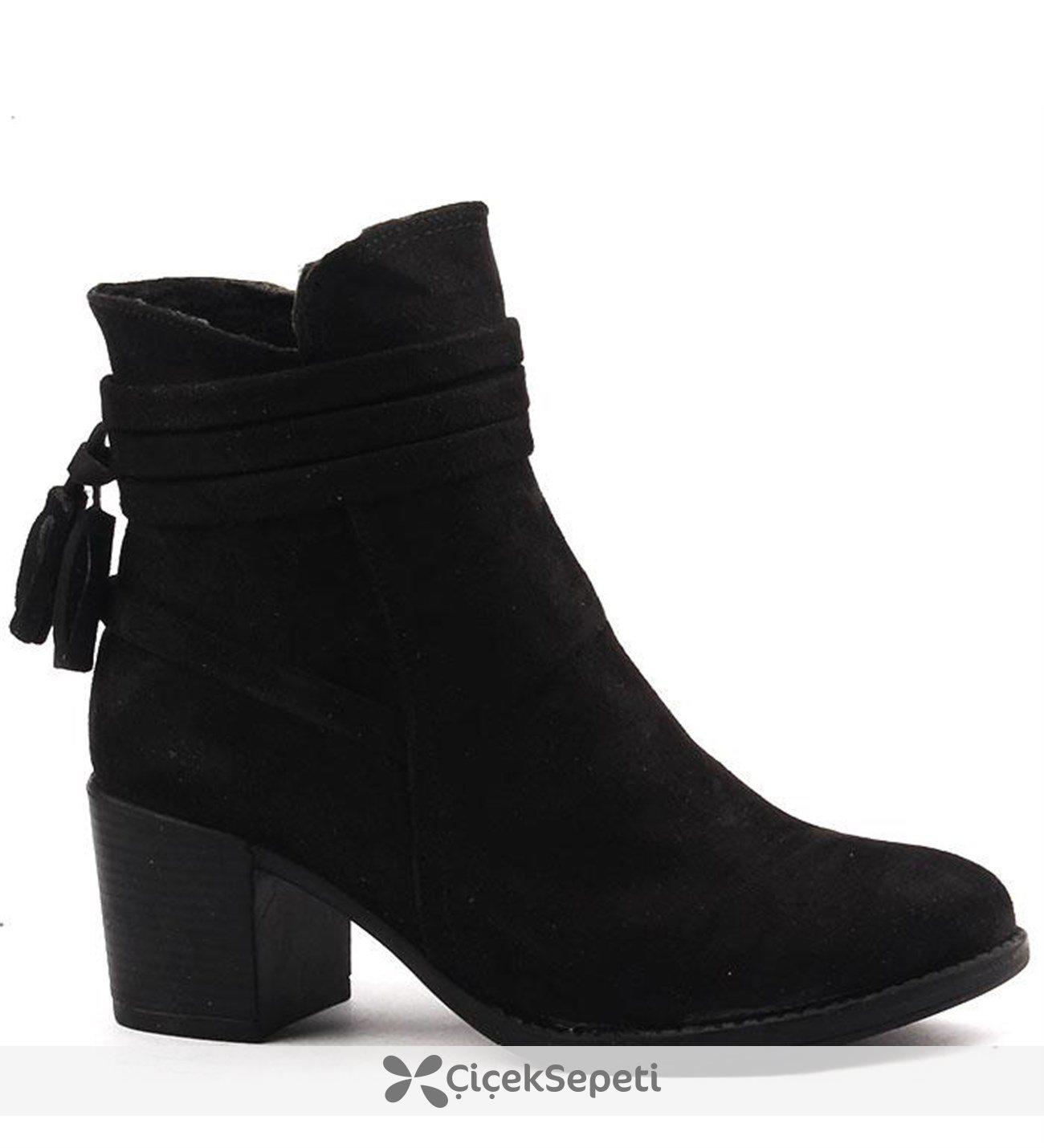 Ayakland 832 Günlük 6 Cm Topuk Termo Taban Bayan Bot Ayakkabı