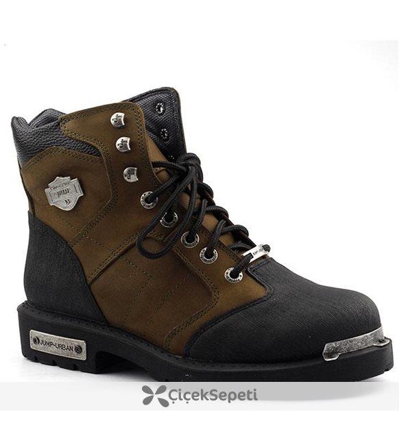Jump 16511 Termal %100 Deri Motorcu Çizme Erkek Bot Ayakkabı