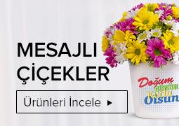 mesajlı çiçekler